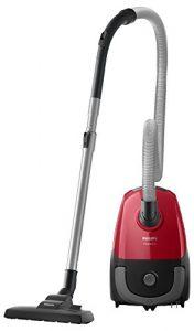 Philips FC8243/09 Aspirateur avec Sac PowerGo, 750W, Capacité de Poussière 3L, Suceur Plat Intégré, Rouge